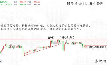 姜歆雨:金银市场两极分化?反弹只不过是诱饵!空头随时来袭