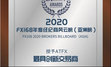 """再添新荣誉,ATFX荣获 2020""""最具创新交易商""""奖项"""